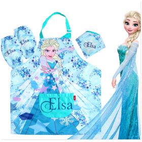 디즈니 프린세스 겨울왕국 엘사 방수 앞치마세트