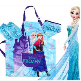 디즈니 프린세스 겨울왕국 방수 앞치마세트