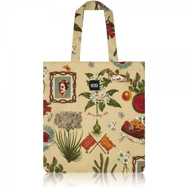 nother Viva Frida Flat Tote Bag (Frida Kahlo/Sand) 상품이미지