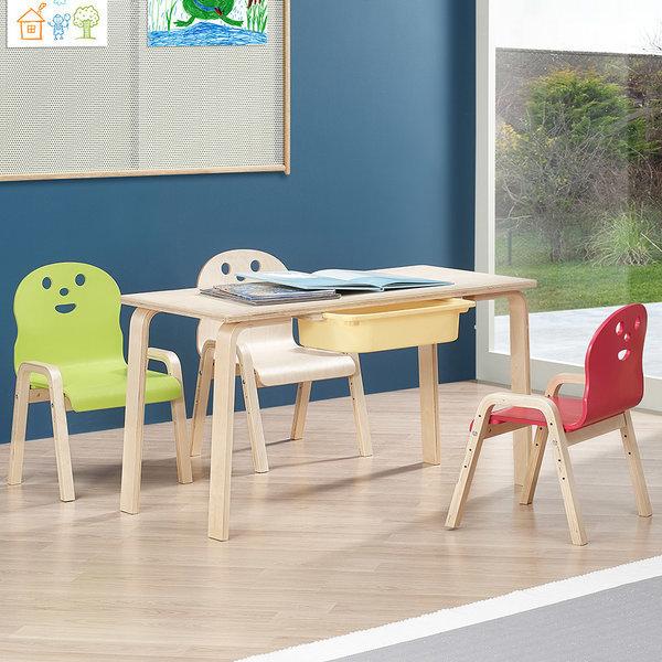 책상세트/ 토리 원목 초등 신형의자 직사각수납책상 상품이미지