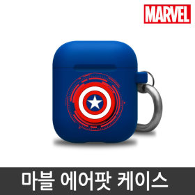 MARVEL/Official Product/Silicon/Airpods Case/CAPTAIN AMERICA