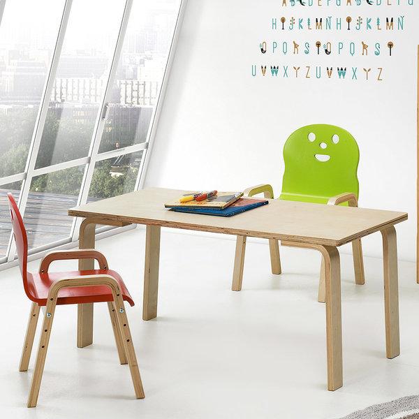 책상세트/ 토리 원목 유아 직사각 내추럴책상 신형의자 상품이미지