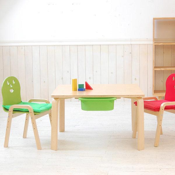 책상세트/ 토리 원목 유아 오리지널의자정사각수납책상 상품이미지