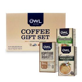 OWL 부엉이 커피 믹스 3종 선물세트 30Tx20g 헤이즐넛