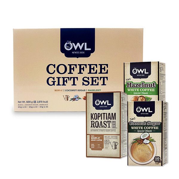 OWL 부엉이 커피 믹스 3종 선물세트 30Tx20g 헤이즐넛 상품이미지
