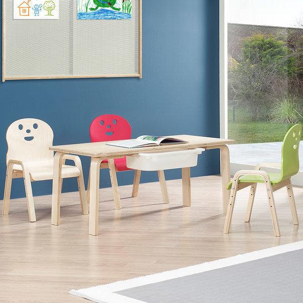 책상세트/ 토리 원목 유아 신형의자 직사각수납책상 상품이미지