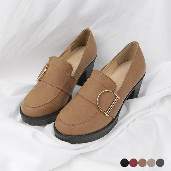 국내산 자체제작 키높이구두 통굽힐 여성신발 로퍼 상품이미지