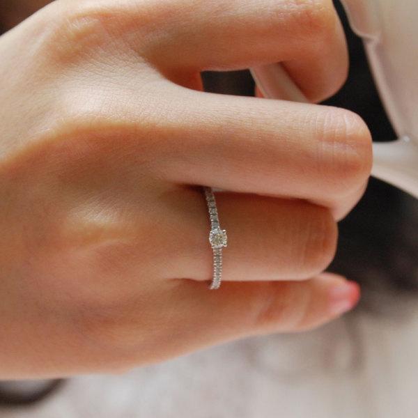 당일발송 예쁜 1부 프로포즈 선물용 다이아몬드 반지 상품이미지