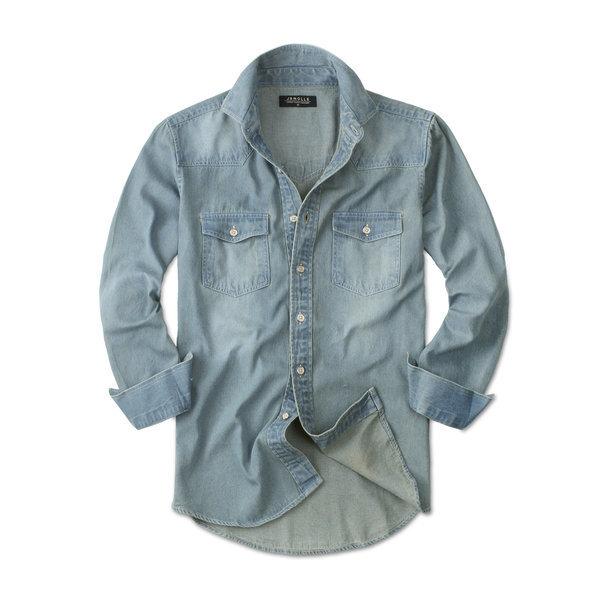 빈티지 청남방 남성 남자 긴팔 데님 셔츠 남방 JM090 상품이미지
