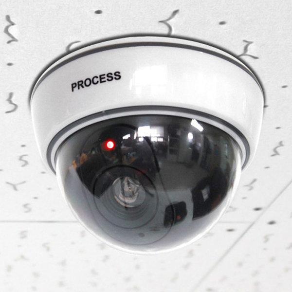 화이트 돔 감시카메라 모형 CCTV 방범용 렌즈점멸 상품이미지
