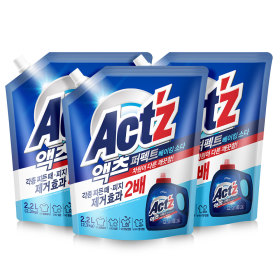 액체세제 액츠퍼펙트 2.2L  3개 베이킹+300x2개+세탁볼