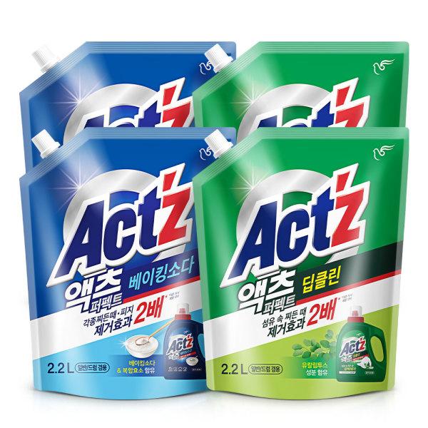 액체세제 액츠퍼펙트 2.2L  4개 베이킹소다 상품이미지