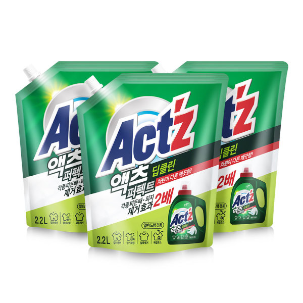 액체세제 액츠퍼펙트 2.2L 4개+1개 안티박 상품이미지