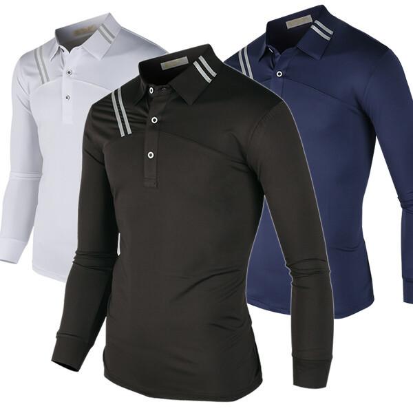 남자카라티 기능성 골프티 긴팔티셔츠 골프웨어w027 상품이미지