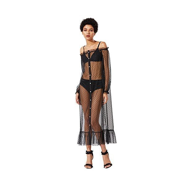 해외쇼핑/Floerns Womens Sheer Mesh Dress Beach Swimwear See Through Cover Ups 상품이미지