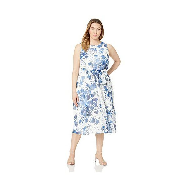 해외쇼핑/Jessica Howard Plus Size Womens Halter Neck Midi Dress 상품이미지