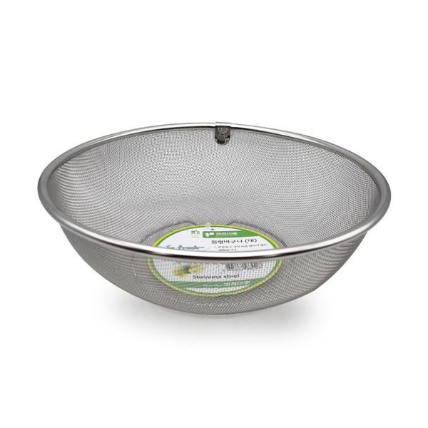 SM 키친아트 원형바구니 대 / 채반 스테인레스 거름망 상품이미지