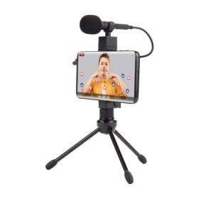 1인 방송용 스마트폰 삼각대 마이크 세트 MK3417