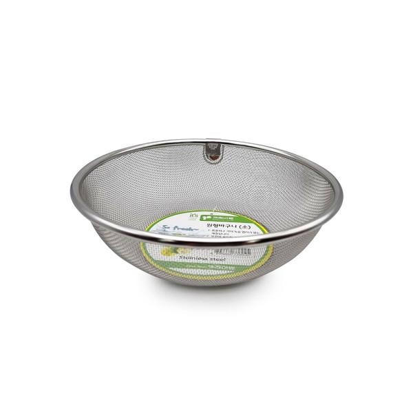 SM 키친아트 원형바구니 소 / 채반 스테인레스 거름망 상품이미지