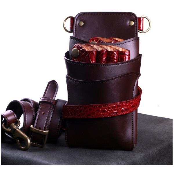 6정용 브라운레드 TW75-Brown-Red미용가위집 가위가방 상품이미지