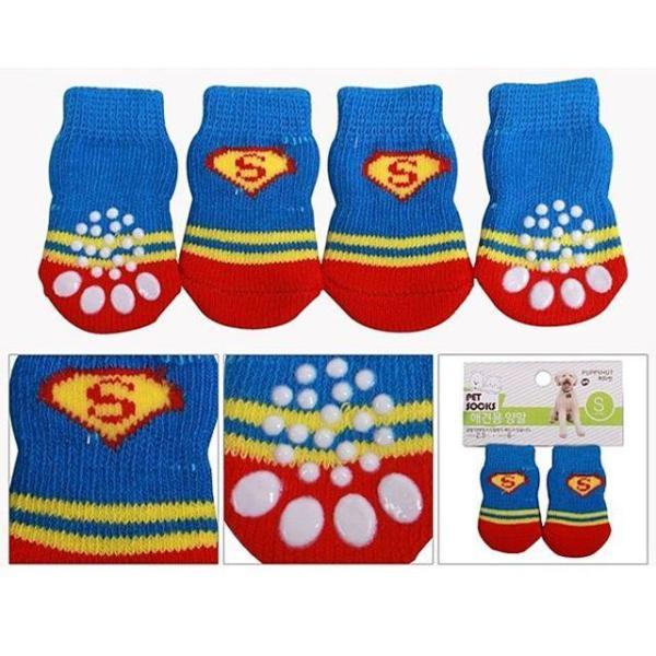 퍼피헛 슈퍼맨양말 강아지 애견 개 양말 신발 슈즈 상품이미지