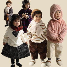 Jelly Kids free shipping in Korea for purchasing over 9800 won kids clothing baggy pants