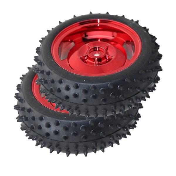 지적인 추적 차 로봇 부품 빨간 85MM 고무바퀴 타이어 상품이미지