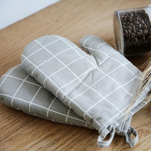 (현대Hmall)린넨 모던 주방장갑 오븐장갑 요리장갑 집들이선물 상품이미지