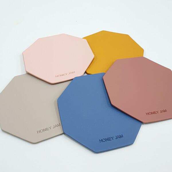 (현대Hmall)모노 방수 가죽 컵받침대 티코스터 5color 상품이미지