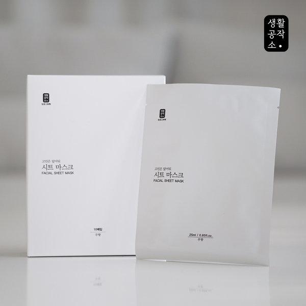 1일1팩 순면시트마스크팩 10입 3세트(30장) 30일용 상품이미지