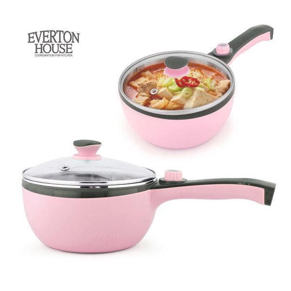 에버튼하우스 전기냄비 18cm(핑크) 라면쿠커 누들포트 상품이미지