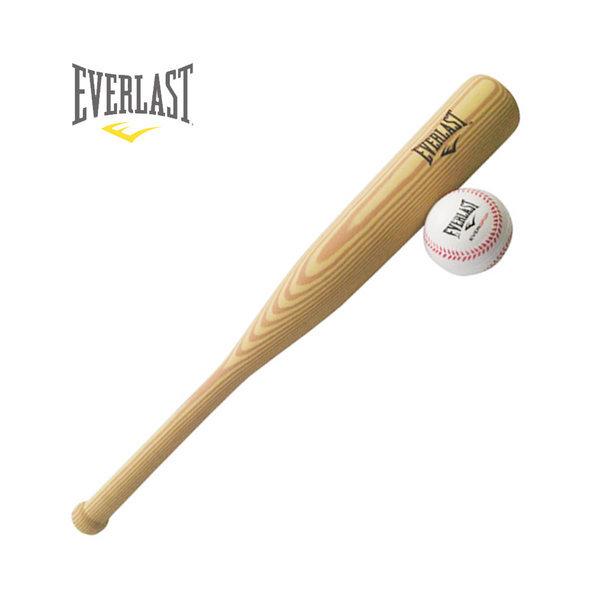 에버라스트 야구 폼배트(오크) + 볼 / 아동 야구배트 상품이미지