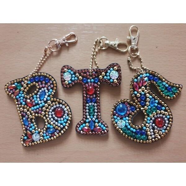 (특수)보석십자수 열쇠고리패키지-알파벳 이니셜 상품이미지
