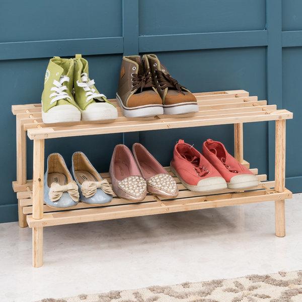 원목선반2단 2단선반 슈즈렉 신발정리대 화분진열대 상품이미지