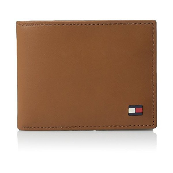 해외쇼핑/Tommy Hilfiger Mens Thin Sleek Casual Bifold Wallet with 6 Credit Card Pockets and Removabl 상품이미지