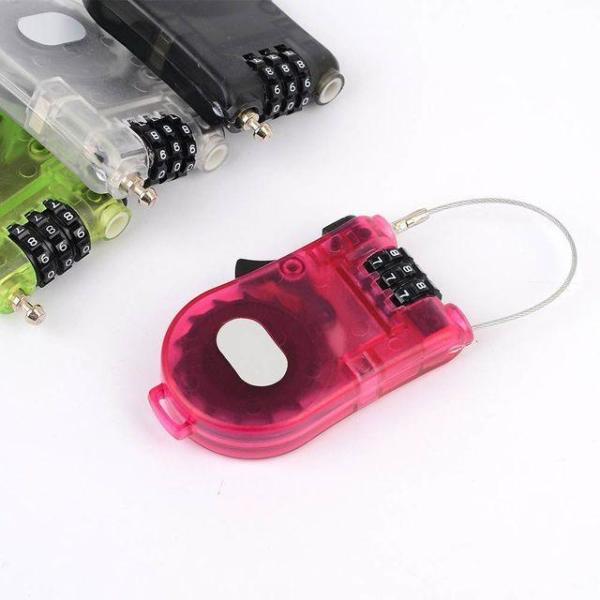 휴대용 안테나 와이어 다이얼자물쇠 잠금장치 잠금 상품이미지