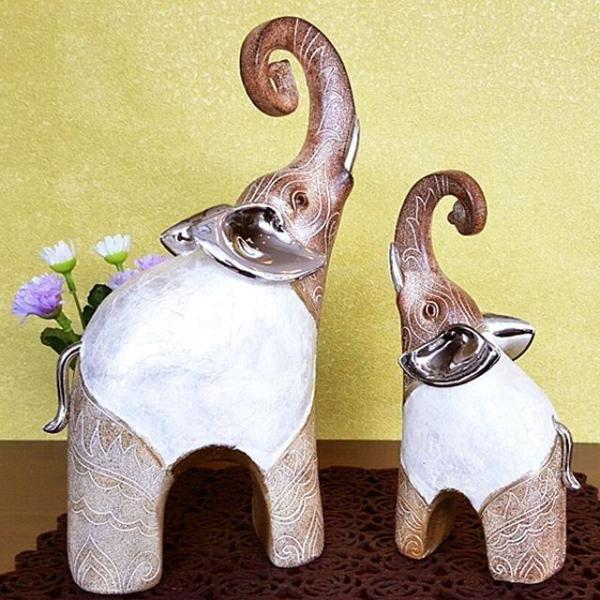 마블 코끼리 2P 코끼리 코끼리 인형 장식 엔틱 소품 상품이미지