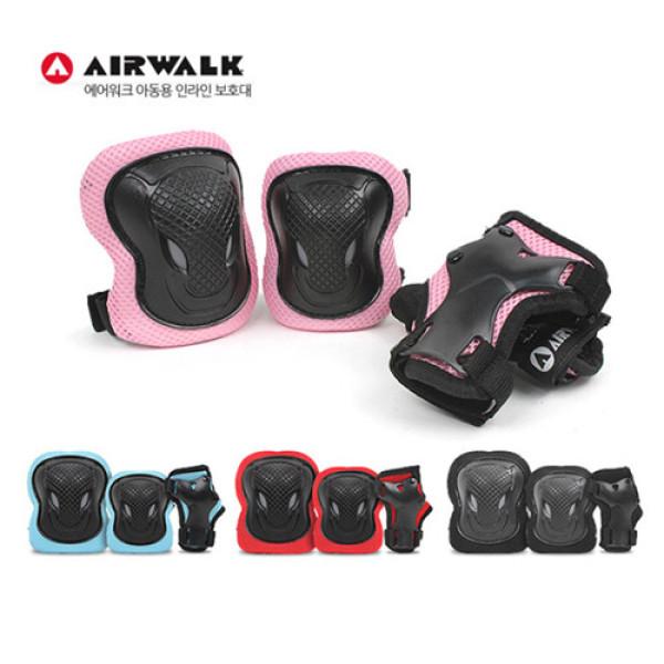(AK몰)(에어워크(스포츠))(AIRWALK) 신상품 에어워크 아동 인라인/자전거 최고급 보호대 블루/레드/핑크/블랙 헬멧/가방/휠카바 상품이미지