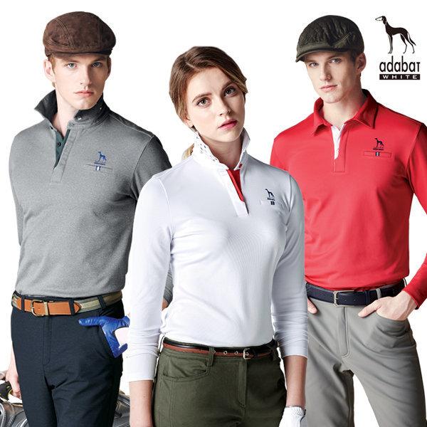 골프 긴팔티셔츠 봄/가을 기모 티셔츠 아다바트화이트 상품이미지