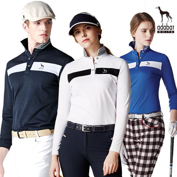 아다바트화이트 기모티셔츠 남성 골프웨어 폴로티 상품이미지