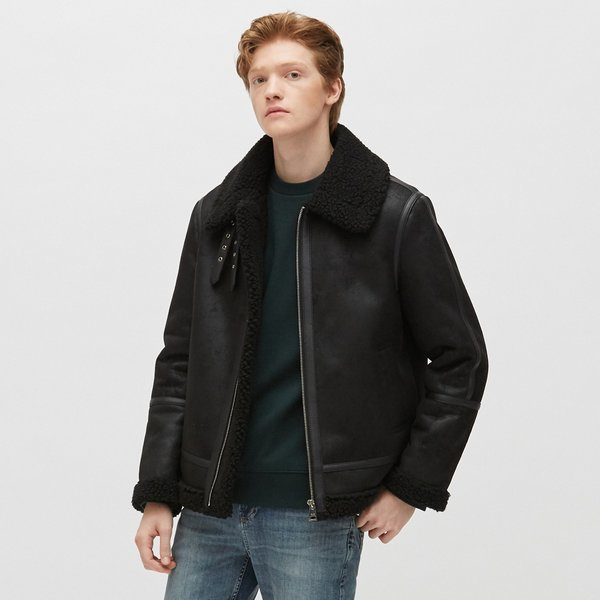 PLAC  MENS SINGLE ZIPPER SHEARLING JACKET (PWON4LJL59M0C1) 상품이미지