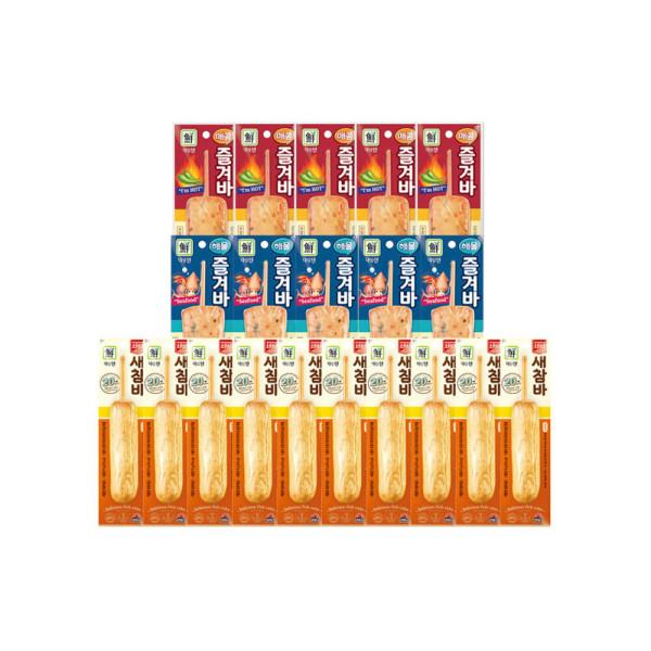 (대림냉동)매콤즐겨바 x5+해물즐겨바x5 +튀긴새참바x10 상품이미지