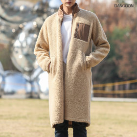 Long fleece jacket