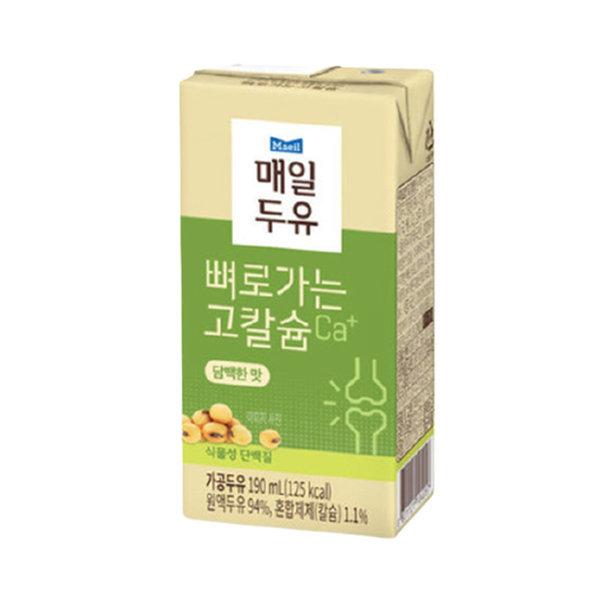 담백한맛 190ml 72팩/두유 상품이미지