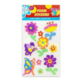 EVA 스티커 8종 -봄 교육용 꾸미기 만들기재료  유아