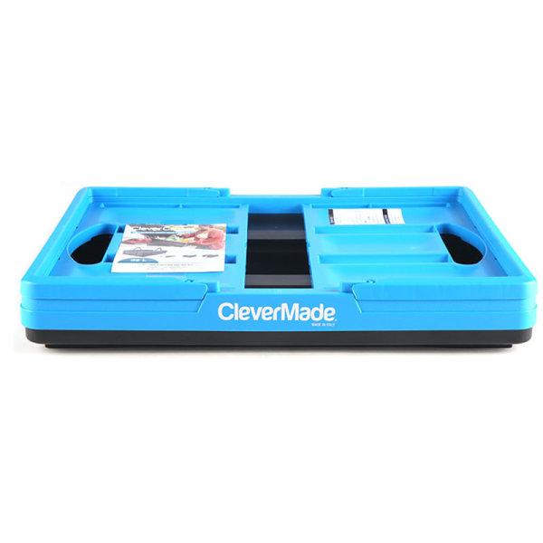직수입 CleverMade 접이식핸들수납합 32L 블루 상품이미지
