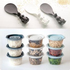 전자렌지 냉동밥 밀폐용기 13P세트+토끼주걱