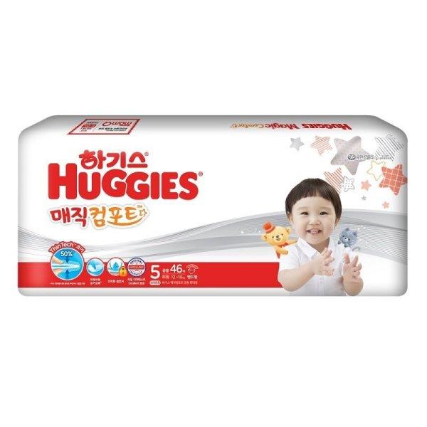 유한킴벌리_하기스매직뉴컴포트 씬테크 밴드기저귀특대형5단계 공용 _46매 상품이미지