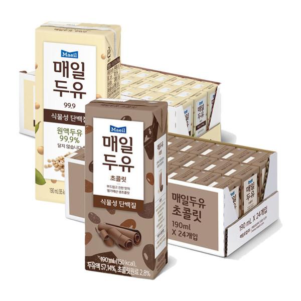 매일두유 99.89 24팩 +초콜릿 190ml 24팩 상품이미지