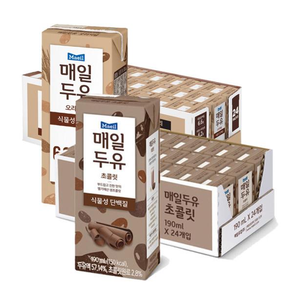 매일두유 식이섬유24팩 +초콜릿190ml 24팩 상품이미지